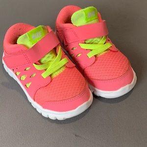 Nike neon pink baby sneakers